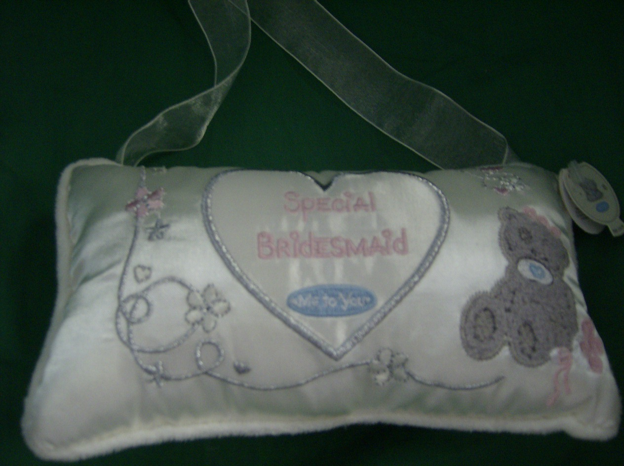 Me To You Wedding Gifts: Me To You Tatty Teddy.. Special Bridesmaid..cushion..cream