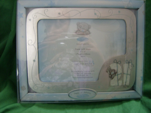 Me To You Tatty Teddy Happy 21st Birthday photo frame..silver