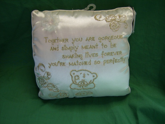 Me To You Wedding Gifts: Me To You Tatty Teddy Verse Wedding Cushion Cream And Gold